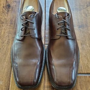 Men's Johnston and Murphy Brown Leather Shoes 9.5